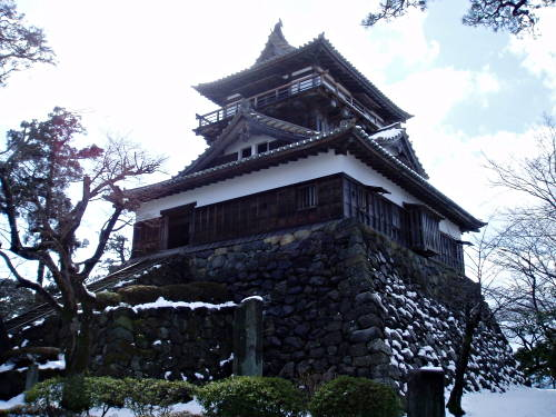 Maruoka Castle in Japan, also known as Mist Castle