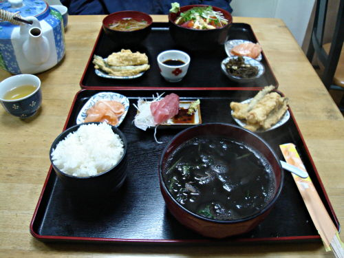 squid ink soup set, Okinawa