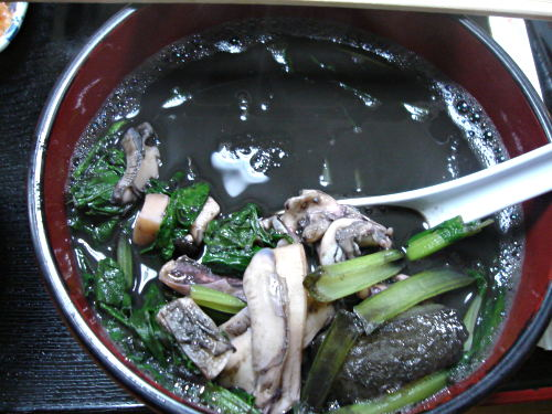 squid ink soup