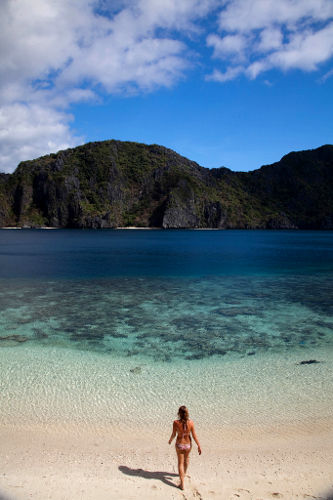 Photo of a Beautiful Beach on Palawan Island, Philippines