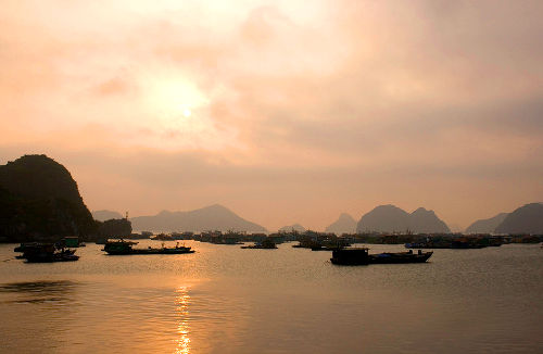 Photo of Sunset over Cat Ba Island, Vietnam