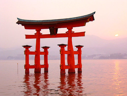 Photo of the Itsukushima Shrine on Itsukushima (Miyajima), Japan