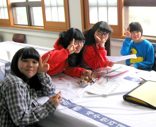 Photo of My English Students at Jeju Island English Camp, South Korea