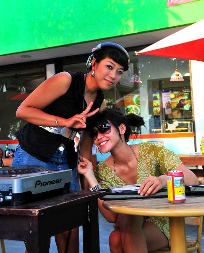 Photo of a DJ and her Friend in Kuta on Bali, Indonesia