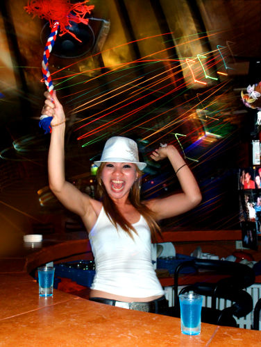 Photo of a Bartender on Patong Beach in Phuket Thailand