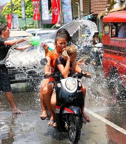 Photo of Songkran Partiers in Chiang Mai, Thailand