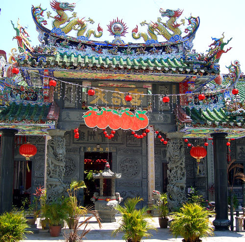 Photo of a Temple on Hainan Island, China