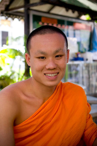 Photo of a Monk English Student in Thailand
