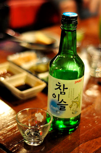 Photo of a bottle of soju, Seoul, South Korea