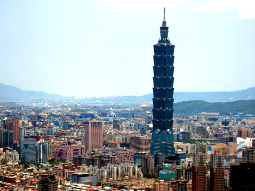Photo of the Tallest Building in the World (2004) in Taipei, Taiwan